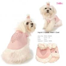 Ingrid Crystal Heart Coat / Pink