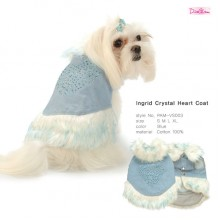 Ingrid Crystal Heart Coat / Blue