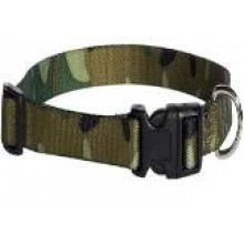 Adjustable Camo Dog Collar-Green