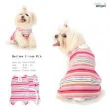 Puppy Angel Bedtime Stripey PJs / Pink