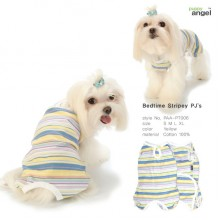 Puppy Angel Bedtime Stripey PJs / Yellow
