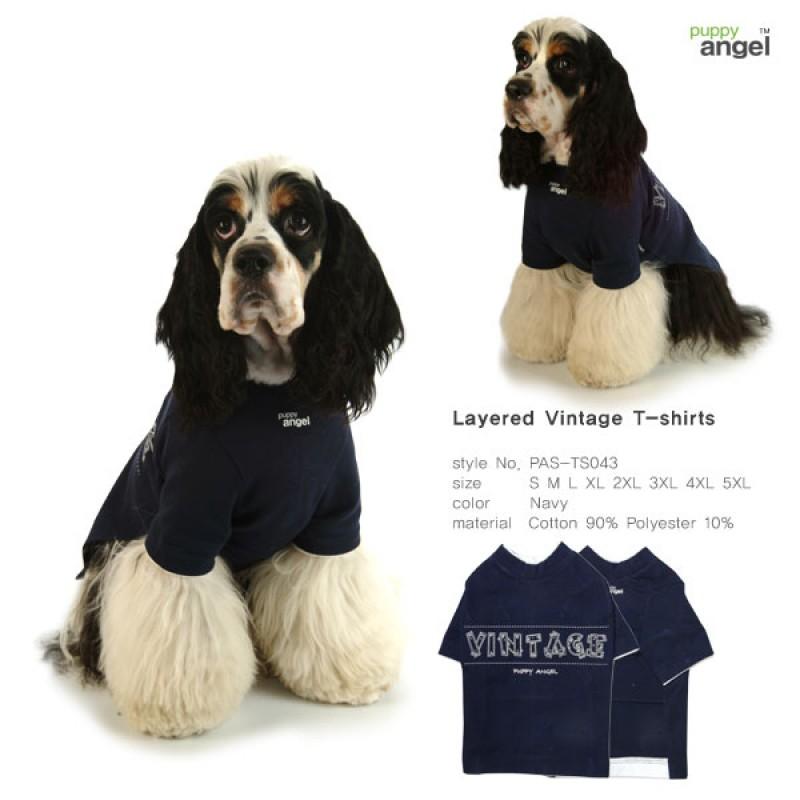 Layered Vintage T-Shirt-Navy