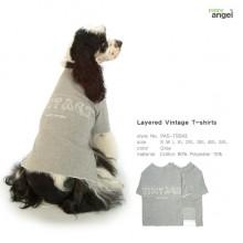 Layered Vintage T-Shirt-Gray