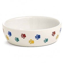 Ceramic Cat Dish - PawPrint