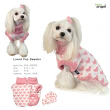 Luved Pup Sweater / Pink