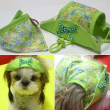 Picnic Hat & Scarf Set (green)