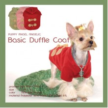 Basic Duffle Coat-Tea Green