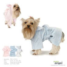Puppy Angel Bathrobe-white