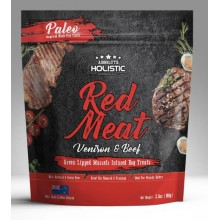 Absolute Holistic Air Dried Dog Treats Red Meat Venison & Beef 100g