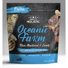 Absolute Holistic Air Dried Dog Treats Oceanic Farm Blue Mackerel & Lamb 100g