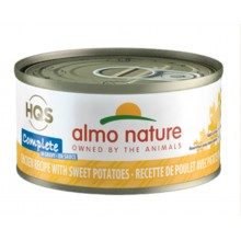 Almo Nature HQS Complete Chicken recipe with Sweet Potatoes in gravy 70g