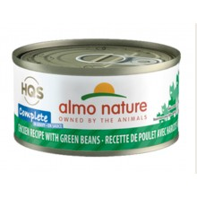 Almo Nature HQS Complete Chicken recipe with Green Beans in gravy 70g