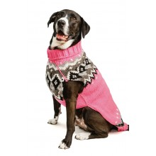 Chilly Dog Sweaters Bubblegum Pink Fairisle Sweater