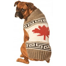 Chilly Dog sweaters Grey Canadian Maple Leaf Dog Sweater
