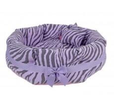 "Pinkaholic Lavender Zebra ""Leo"" Dog Bed"