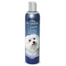 Bio-Groom Super White™ Coat Brightener Shampoo for Dogs & Cats 12oz