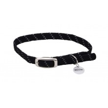 "ElastaCat Reflective Safety Stretch Collar with Reflective Charm 3/8"" X 10"""