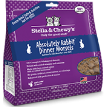 Stella  & Chewy's Freeze Dried Absolutely Rabbit Dinner Morsels for Cats 9oz
