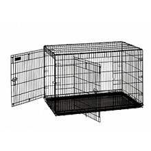 "Precision Great Crates 2-Door w/ Divider Panel 5000 42x28x31"" - Black Wire"