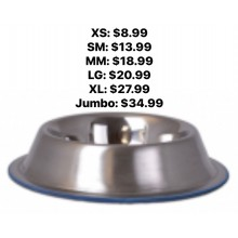 Durapet Premium Rubber-Bonded Stainless Steel No-Tip Bowl