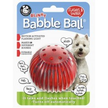 Pet Qwerks Blinky Babble Ball Interactive Dog Toy Medium