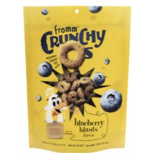 FROMM CRUNCHY O'S BLUEBERRY BLASTS TREATS FOR DOGS 26oz