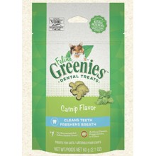 FELINE GREENIES Dental Treats Catnip Flavor 2.1oz