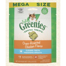 FELINE GREENIES Dental Treats Oven Roasted Chicken Flavor 4.6oz