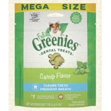 FELINE GREENIES Dental Treats Catnip Flavor 4.6oz