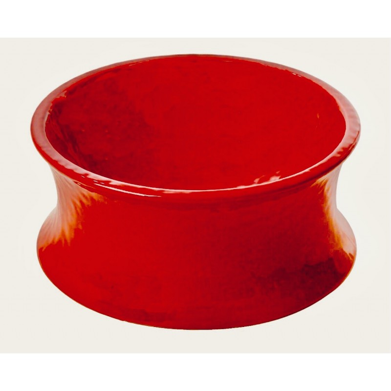 One for Pets The Kurve Raised Pet Bowl, Medium, Red