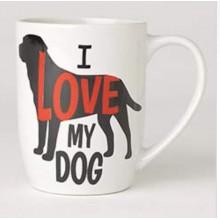 I Love My Dog Mug 24oz, White