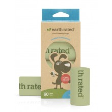 Earth Raed 60 Certified Compostable Poo Bags on 4 Refill Rolls