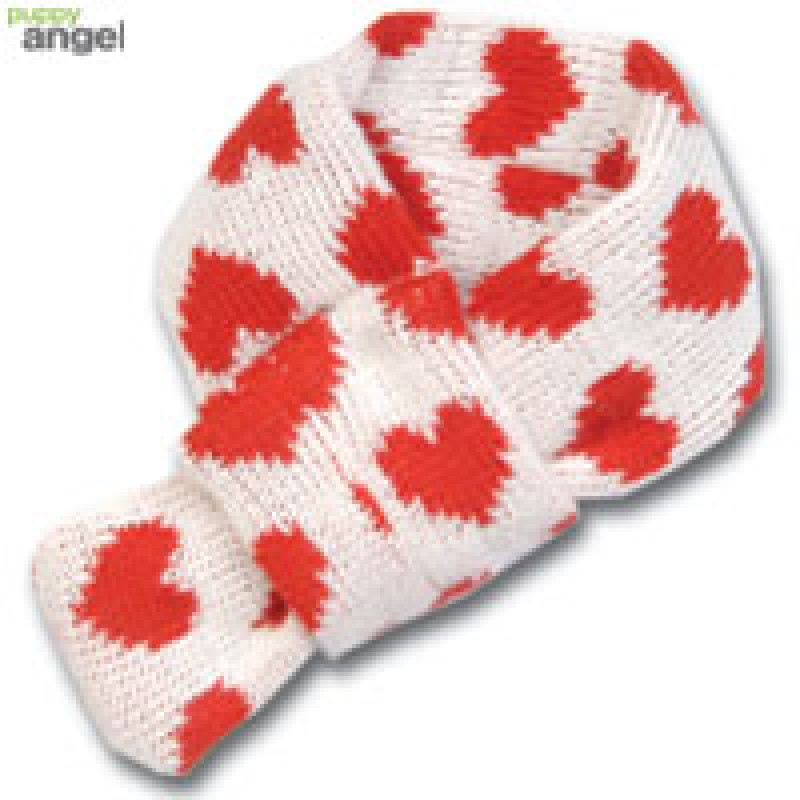 Heart Scarf / Red