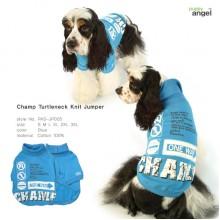 Champ Turtleneck Knit Jumper / Blue