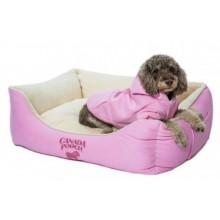 Canada Pooch Cozy Caribou Bed Pink, Small