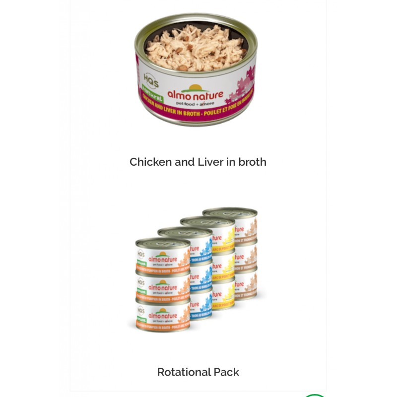Almo Nature Natural Grain Free Canned Cat Food 2 47oz