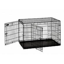 "Precision Great Crates 2-Door w/ Divider Panel 5000 42x28x31"" - Black Wire"