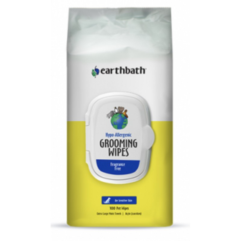 Earthbath Hypo-Allergenic Grooming Wipes 100ct