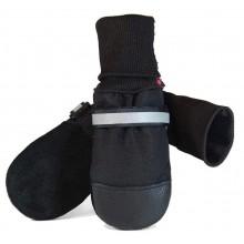 Muttluks Original Fleece-Lined Muttluks (4 Boots per package), Small, Black