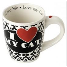 I Love My Cat Jumbo Mug, 28 oz