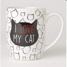 I Love My Cat Mug 24oz, White