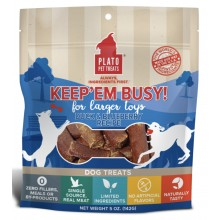 Plato Keep'Em Busy Duck & Blueberry Meat Sticks for Larger Toys 5oz