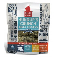 Plato Hundur's Crunch Fish Treats Jerky Fingers 3.5oz