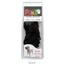 Pawz Rubber Dog Boots BLACK  XX-SMALL