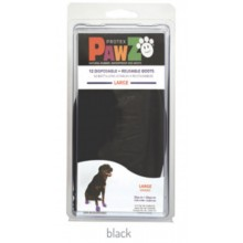 Pawz Rubber Dog Boots BLACK LARGE