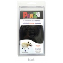 Pawz Rubber Dog Boots BLACK MEDIUM